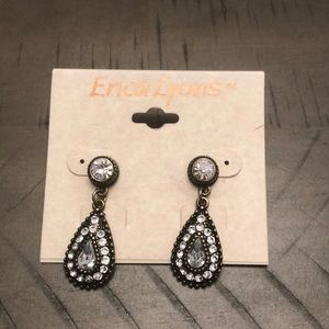 Erica lions earrings black with diamonds